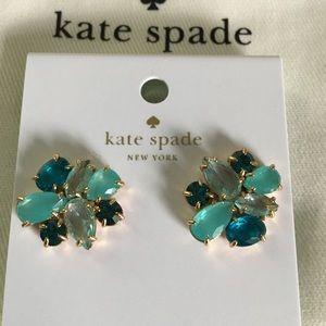Kate Spade multi turquoise crystal stud earrings